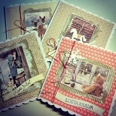 Jouluisia juttuja... Creative Gifts, Christmas Cards, Card Crafts, Xmas Cards, Christmas Letters, Stamped Christmas Cards, Merry Christmas Card