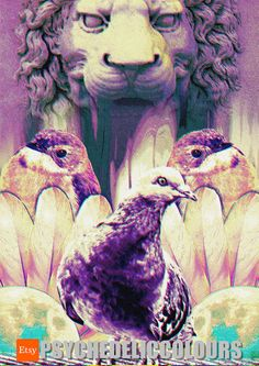 Avian Guards of the Lion Crypt Psychedelic by PsychedelicColours