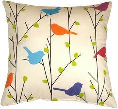 Spring Birds Decorative Pillow