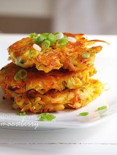 Yum!  sweet potato/ potato cakes