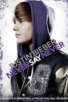 Justin Bieber: Never Say Never Movie Poster - Justin Bieber, Boyz II Men, Miley…