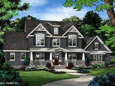 HOUSE PLAN 1424 – NOW IN PROGRESS - HousePlansBlog.DonGardner.com – House Plan 1424 has been named The Blarney! NOW IN PROGRESS! Cedar shakes, stone, and timber accents give this home plan a rustic appearance. #dreamhomeplan #dreamhouseplan #homeplan