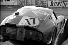 timewastingmachine:  1962 Ferrari 250 GTO #3397 at Le Mans