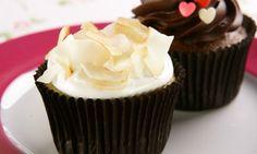 Cupcake com cobertura de merengue