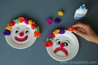 Mr. Happy and Mr. Sad Clown Craft | Kids' Crafts | FirstPalette.com