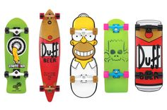 Simpsons cruzers from Santa Cruz Skateboards