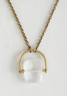 Clearly Cute Necklace - Solid, Boho, Minimal, Darling, Gold, Gals
