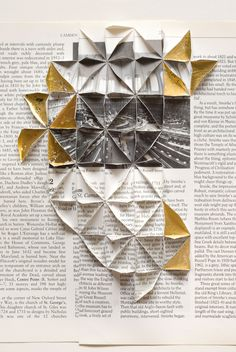 Abigail Reynolds, 'The Universal Now: British Museum Reading Room Cut and tiled vintage book plates + gold leaf. Mixed Media Photography, Artistic Photography, Graphic Design Magazine, Libros Pop-up, Origami, Paper Architecture, Photocollage, A Level Art, Design Graphique