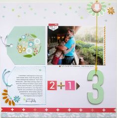 Scrapbook layout: 2+1=3 by Kathleen Smith