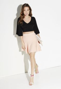Fit And Flare Skirt - JustFab