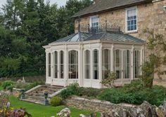 "The windows can be made in the traditional style ""six over six"", or adopt any style to suit the building the conservatory is designed for. Description from valegardenhouses.co.uk. I searched for this on bing.com/images Solarium Room, Conservatory, Gazebo, Wordpress, Kiosk, Greenhouses, Green Houses, Hothouse"