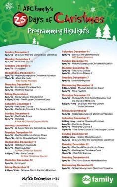25 days of Christmas countdown!