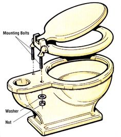How to replace a toilet seat and other bathroom troubleshooting tips Toilet Seat Hinges, Toilet Repair, Modern Toilet, New Toilet, Wax Ring, Seat Available, Bathroom Color Schemes, Diy Home Repair, Home Repairs