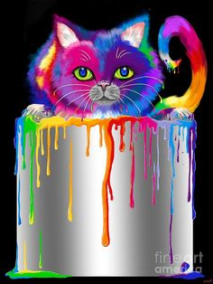 Paint Can Cat Painting by Nick Gustafson -.
