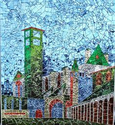 Assisi in glasmozaiek van PippesGlasmozaiek op Etsy