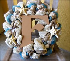 Beach Theme Starfish Neutral Tone Ocean Blue by TheDreamWreather