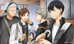 Low key kageyama checking out Aone