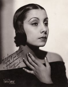 Tamara Toumanova (1919–1996) was a Russian-born American prima ballerina and actress, pictured here in a photograph signed and dated 1937. A child of exiles in Paris after the Russian Revolution of 1917, she made her debut at the age of 10 at the children's ballet of the Paris Opera. #vintagephoto