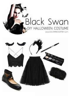 Easy DIY Halloween Costumes - Black Swan (ballet) Halloween Costume #diy #halloween