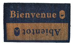 Imports Decor Vinyl Back Coir Doormat, Beinvenue-Abientot, 18-Inch by 30-Inch >>> See this great product. (This is an affiliate link) #Doormats