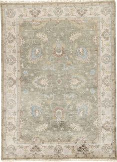 The Anise collection calls on classic elegance for a stunningly soft and richly patterned addition to traditional and contemporary spaces alike. The Princeton design showcases Persian floral medallions and an intricate border in muted hues of brown and vintage forest green. An antiqued wash and knotted fringe detailing complete the Old World look of this hand-knotted wool rug.