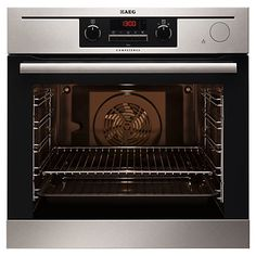 Buy AEG Built-In Single Electric Oven with Steam, Stainless Steel from our Built in Ovens range at John Lewis & Partners. Built In Electric Oven, Single Electric Oven, Single Oven, Best Appliances, Kitchen Appliances, Modern Talking, Integrated Oven, Stainless Steel Oven, Ovens
