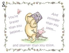 Classic Winnie the Pooh and Piglet Card Four Different Options by KWPCreations, $5.00
