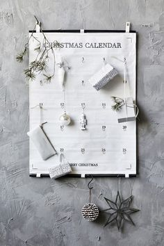 """Make your children happy for Christmas with 24 small presents to ease the waiting time for Christmas. Days till Christmas"""" is a decorative and beautiful advent calendar from House Doctor. Days To Christmas, Noel Christmas, Christmas Crafts, Christmas Decorations, Christmas Trends, House Doctor, Scandinavian Christmas, Scandinavian Style, Slots Decoration"""