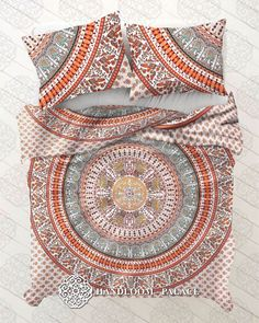 Ombre Mandala Boho Duvet Cover Queen Indian Quilt Cover Cotton Throw Doona Cover #Unbranded #Traditional