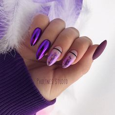 False nails have the advantage of offering a manicure worthy of the most advanced backstage and to hold longer than a simple nail polish. The problem is how to remove them without damaging your nails. Cute Acrylic Nails, Matte Nails, Fun Nails, Stylish Nails, Trendy Nails, Violet Nails, Sparkle Nails, Glam Nails, Nagel Gel