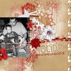 Krafty Christmas Collection Mini digital scrapbooking kit, by Amanda Fraijo-Tobin: Scrap Girls