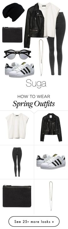"""Ideal Type Outfit: Suga"" by btsoutfits on Polyvore featuring Mode, Priory of Ten, Zara, Serefina, ASOS, adidas Originals und Retrò"