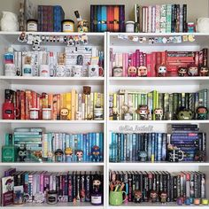 It's #shelfie tiiiiiime!! This is how I spent part of my day yesterday. I still have a few things to move around and change, but this is how far I got after about 3 hours of working on it. Of course...