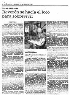 Mateo Manaure habla sobre Armando Reverón Publicado el 29 de mayo de 1987.