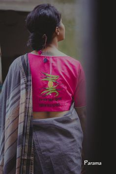 designer blouse designs from parama 8 Saree Jacket Designs, Choli Blouse Design, Saree Blouse Neck Designs, Fancy Blouse Designs, Kurta Designs, Blouse Patterns, Stylish Blouse Design, Stylish Dress Designs, Fashion Design Sketches