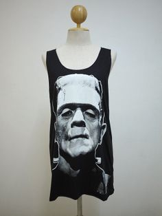 Mr. Frank Size M  The Human Monster Tshirt Tank Top by LikeStyle, $13.99
