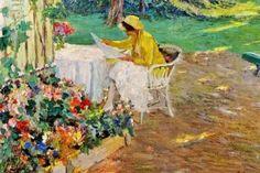 Na sombra Edward Cucuel (EUA, 1879 – 1954) óleo sobre tela