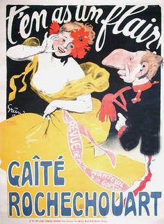 """Jules-Alexandre Grun, ca 1904, """"T'en as un flair!"""", Gaîté Rochechouart."""