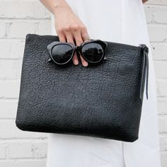 The perfect sized black clutch