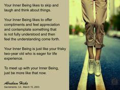 #AbrahamHicks #InnerBeing #Skip