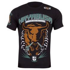 Hayabusa Bull Vechtsport T-Shirt Black Hayabusa MMA Kleding - Fightshorts.nl