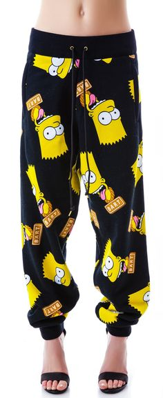 Joyrich Bart Face Sweat Pants | Dolls Kill