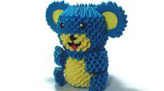 Etsy の 3D origami teddy bear by Girnelis