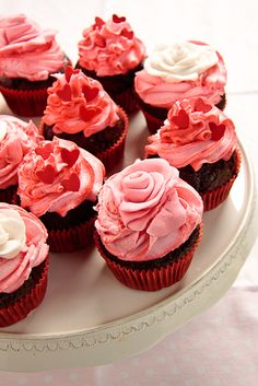 Valentine's Day Cupcakes with Strawberry Buttercream Frosting