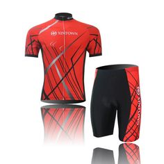 (Type:Set size:S) Sleeve Jersey Cool perspiration Cycling Sportswear Quick Tops Set soft pad Breathable Men Comfortable Shorts Dry Short Shirts Tights *** Read more reviews of the product by visiting the link on the image.