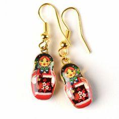 Fun Russian Doll Earrings
