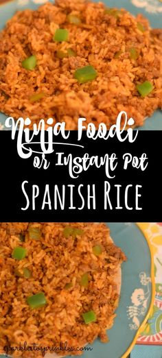 My Ninja Foodi or Instant Pot Spanish Rice is one festive maid dish or even side recipe to make. You have tender rice peppers spices ground beef and more that come together to make this a showstopping dish. Pin for Later! Side Recipes, Beef Recipes, Chicken Recipes, Cooking Recipes, Healthy Recipes, Ninja Recipes, Juicer Recipes, Blender Recipes, Veggie Recipes