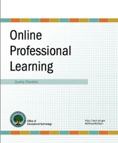Online Professional Learning Checklist (PDF) - tech.ed.gov