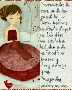 Mag jy 'n stresvrye dag ervaar :-) Lekker Dag, Evening Greetings, Afrikaanse Quotes, Goeie More, Love My Boys, Good Morning Wishes, Faith In God, Cute Quotes, Positive Thoughts