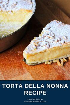 Torta della Nonna Recipe - Italian Pastry Cream Tart The cravings seem p . - Torta della Nonna Recipe – Italian Pastry Cream Tart The cravings seem itchy that have a hopeless - Italian Bakery, Italian Pastries, Granny's Recipe, Torta Recipe, Cake Recipes, Dessert Recipes, Italian Cookies, Italian Biscuits, Food Cravings